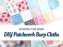 Easy to Sew Patchwork Burp Cloths