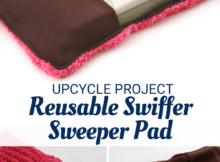 Upcycled Reusable Swiffer Sweeper Pad Sewing Tutorial