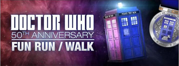 DoctoWho5othAnniversaryFunRun Random Thoughts about Doctor Who, a Doctor Who 50th Anniversary Fun Run and Track Tuesday