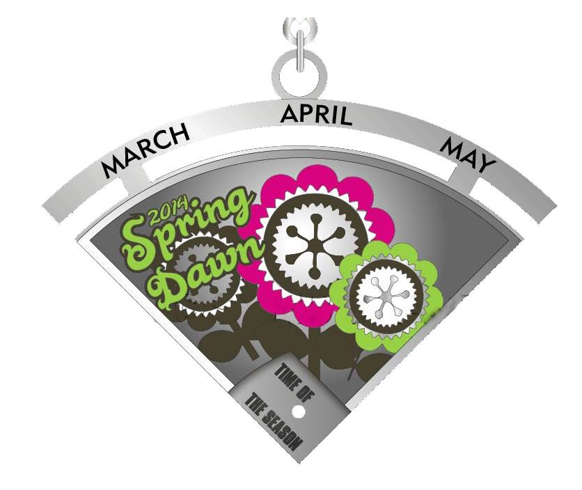 DigitalRunning SpringSeasonMedal RANdom Thoughts about Hills, Bridges and Other Challenges and an Electrodash 5K Giveaway
