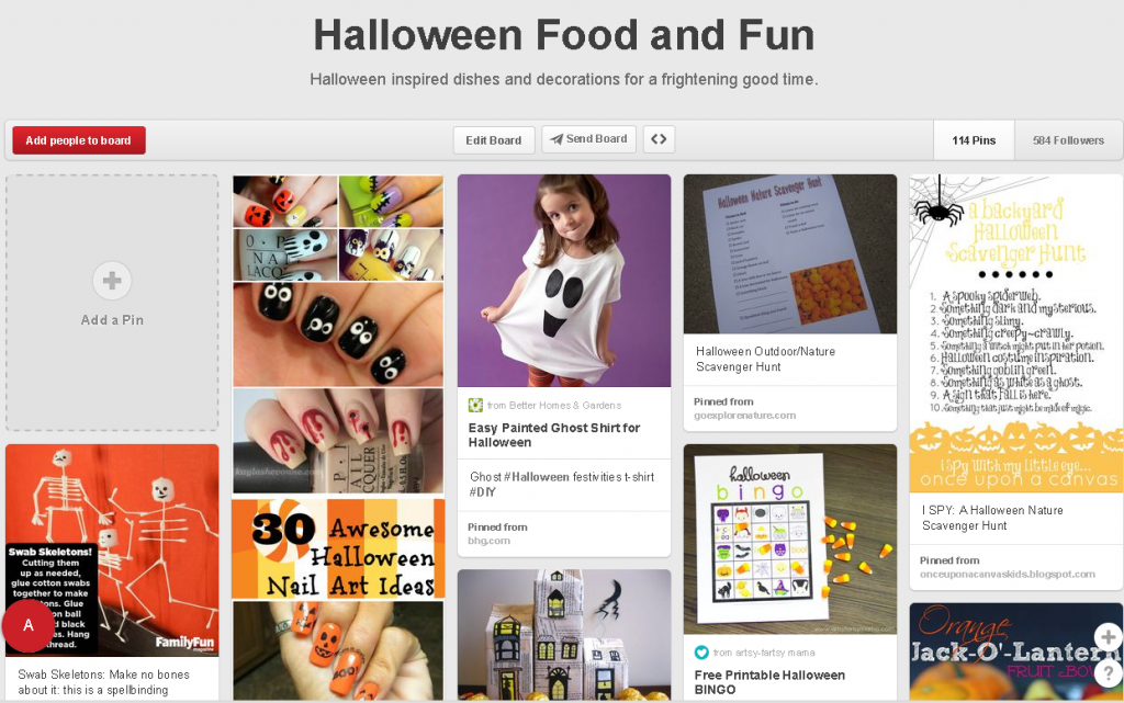 Halloween Food and Fun Pinterest Board