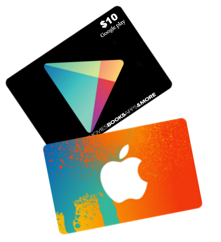 itunes gift card Google play gift card