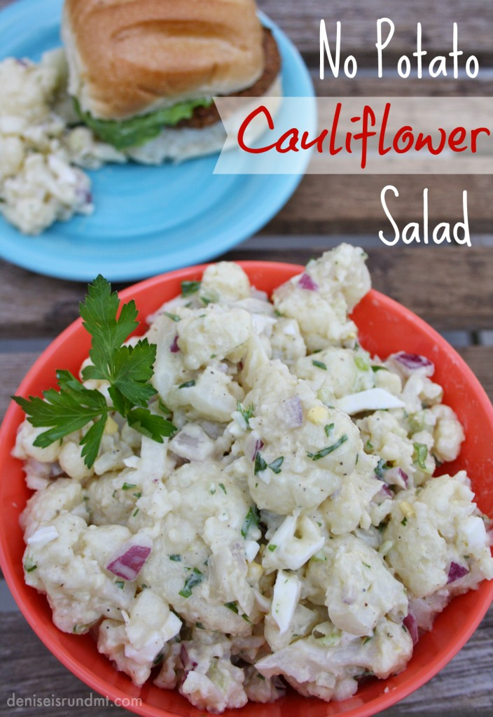 No Potato Cauliflower Salad - Run DMT