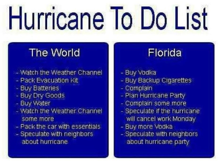 Florida Hurricane To Do List