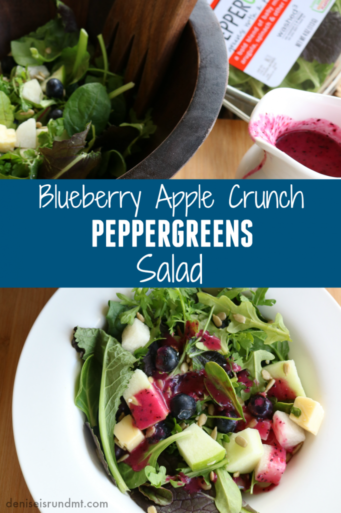 Blueberry Apple Crunch PEPPERGREENS Salad - organicgirl- Run DMT