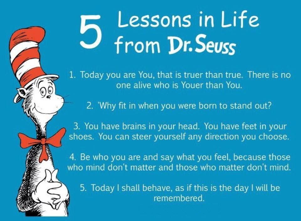 Five Lesson Learned From Dr. Seuss