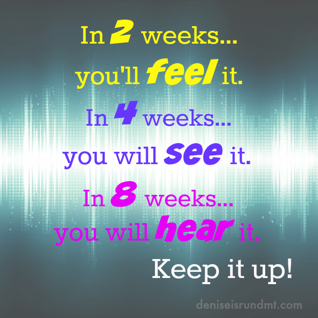 Run DMT - 2-4-8 weeks-keep it up