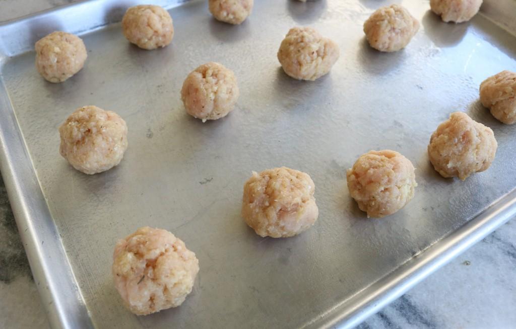 Ground Turkey Meatballs-tray