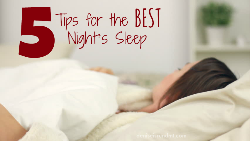 Sleeping tips - Run DMT