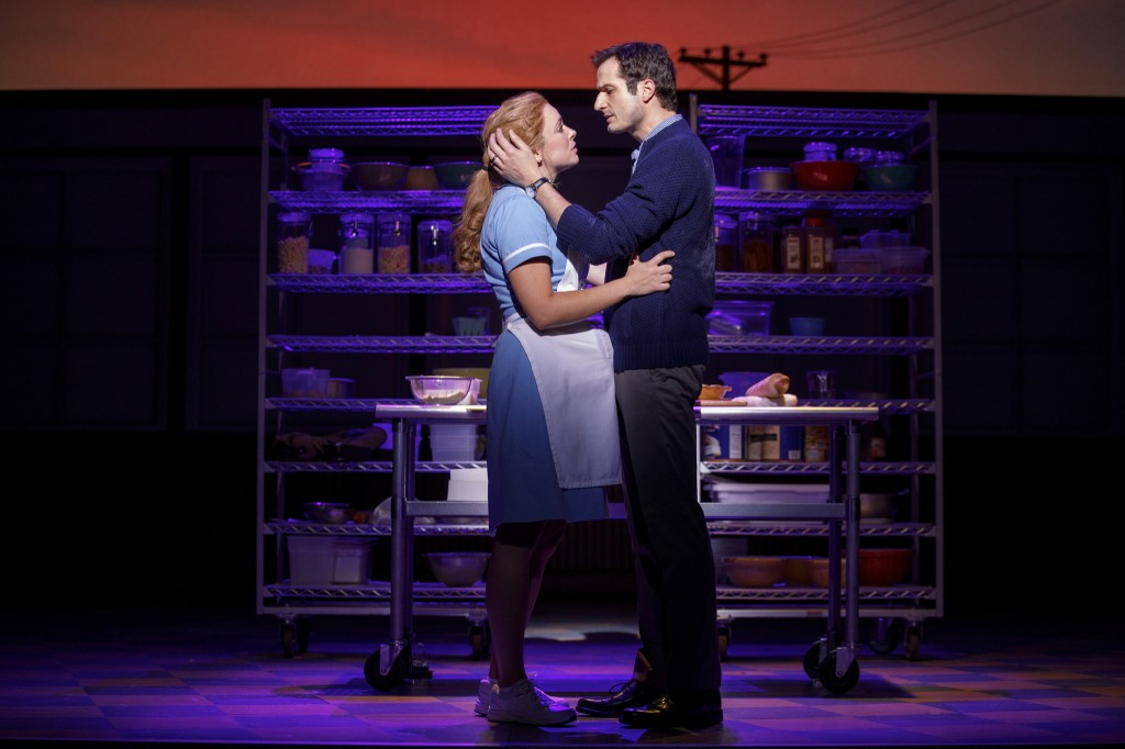 Bryan Fenkart and Desi Oakley in the National Tour of WAITRESS - Photo Credit Joan Marcus