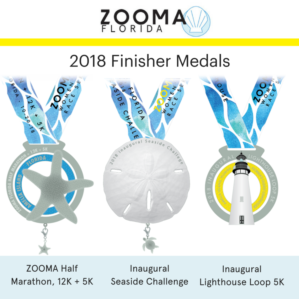 Zooma Florida 2018 medals