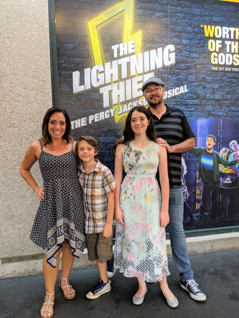 My family and I attended the opening performance of The Lightning Thief.