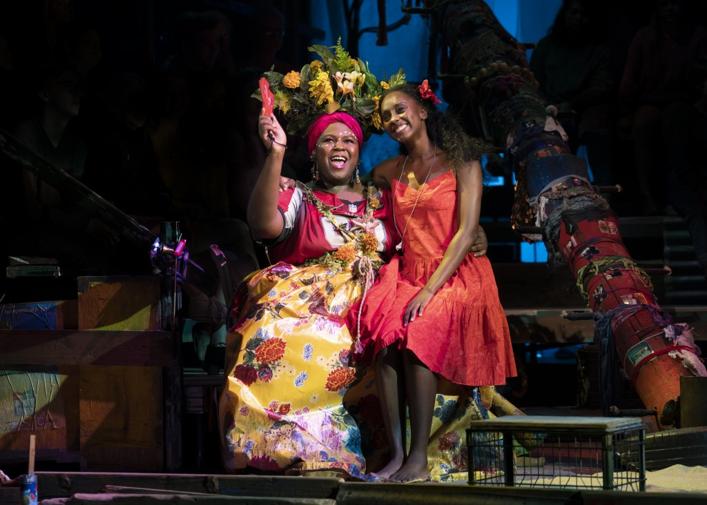 Kyle Ramar Freeman as 'Asaka' and Courtnee Carter as 'Ti-Moune' in the North American Tour of ONCE ON THIS ISLAND Photo credit: Joan Marcus.