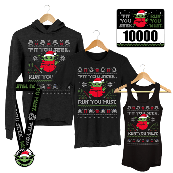 Yoda Christmas Virtual Race - Christmas fun run