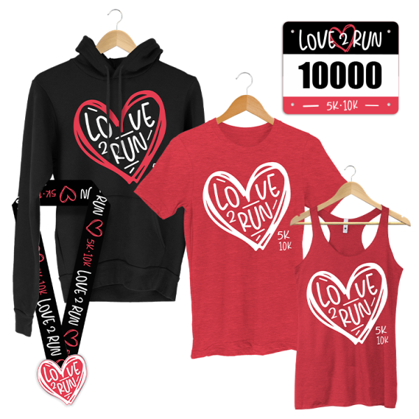 Love 2 Run 5K - Valentine's Day fun run - virtual race