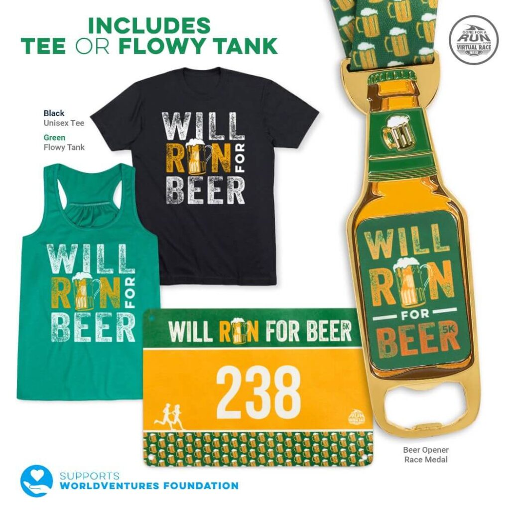 Will Run for Beer 5K - virtual race