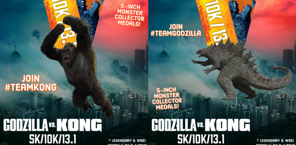 Godzilla vs. King Kong Virtual Race