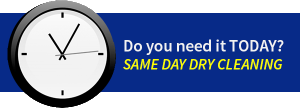 Next Day or 24 Hour Service Dry Cleaning Laundry Drop Off