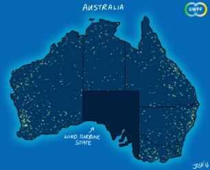 Graphic showing South Australian blackout, courtesy of GWPF