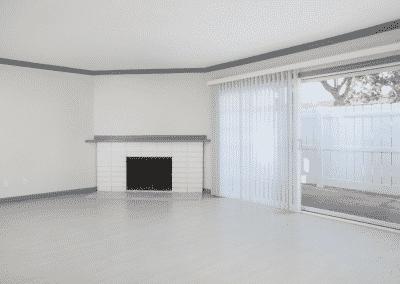 Wood Flooring empty apartment fireplace