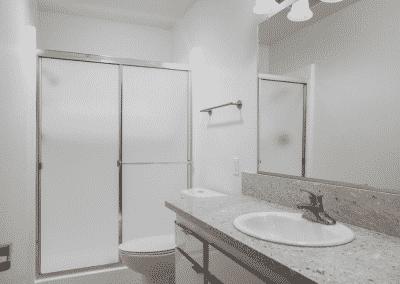 Sink toilet shower bathroom