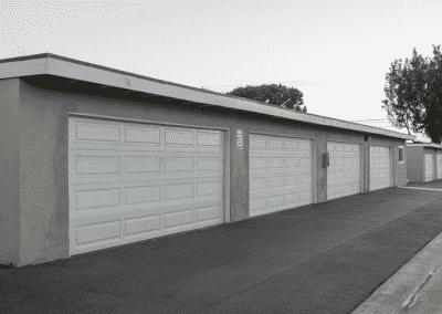 Garage white door
