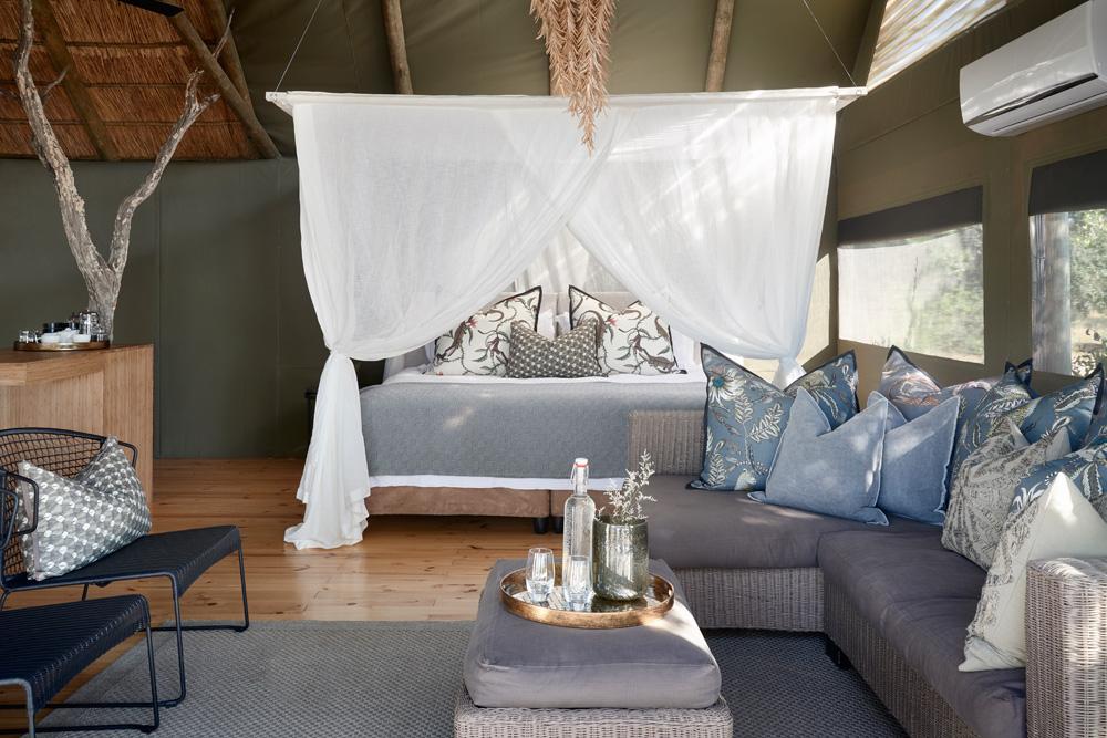 Luxury tent interior