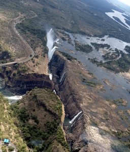Zimbabwe falls never dry up on Zimbabwe side