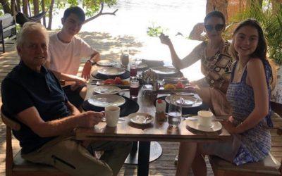 Keeping up with the Jones's: Michael Douglas & Catherine Zeta-Jones visit Victoria Falls River Lodge
