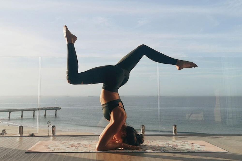 Image of Jena Gradwell doing yoga