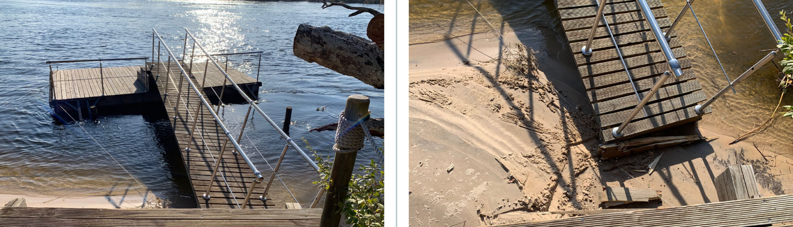 Pictures of damaged Jetty from an Elephant Bull