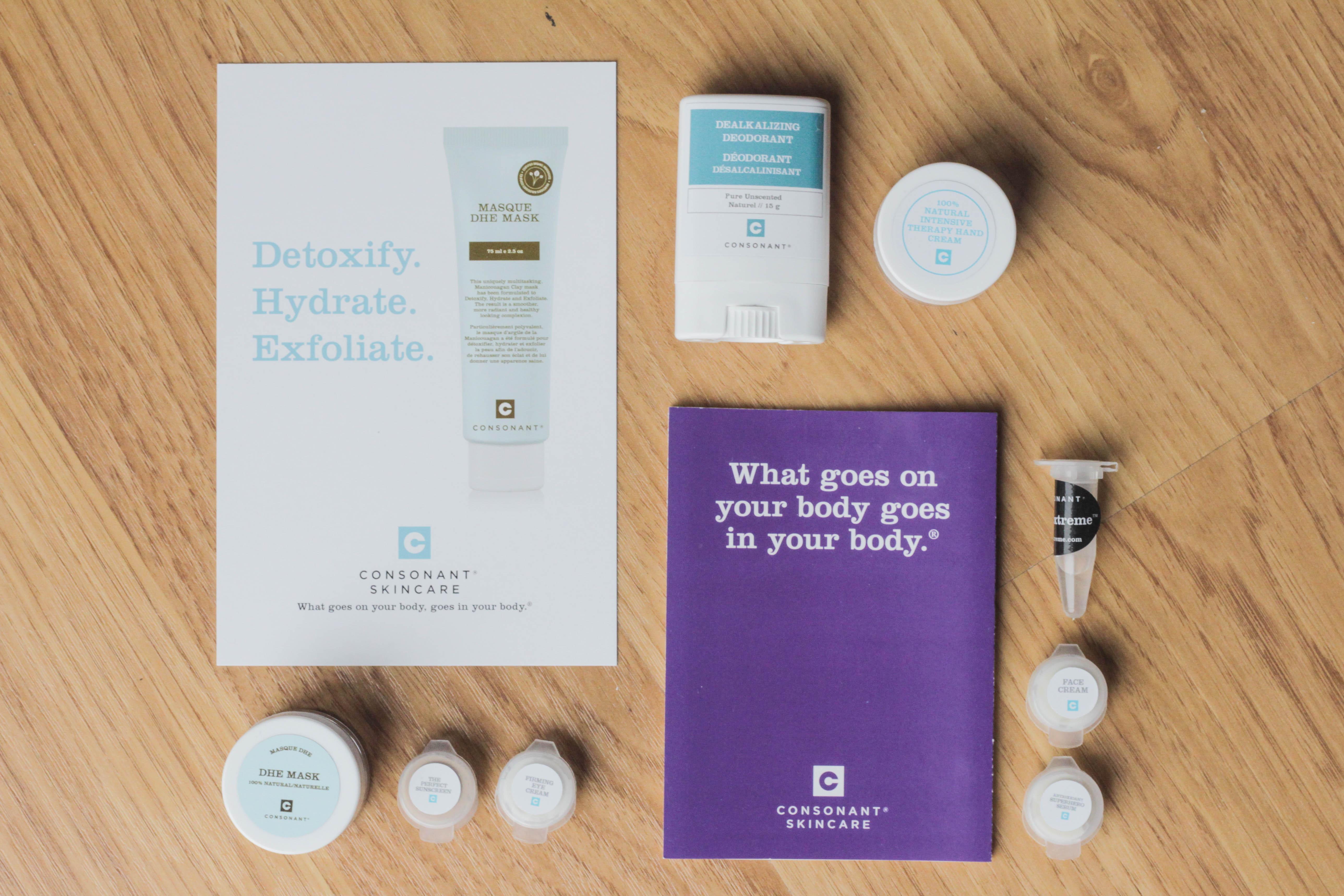 DHE Mask, Deodorant, Hand Cream, Face Cream, samples