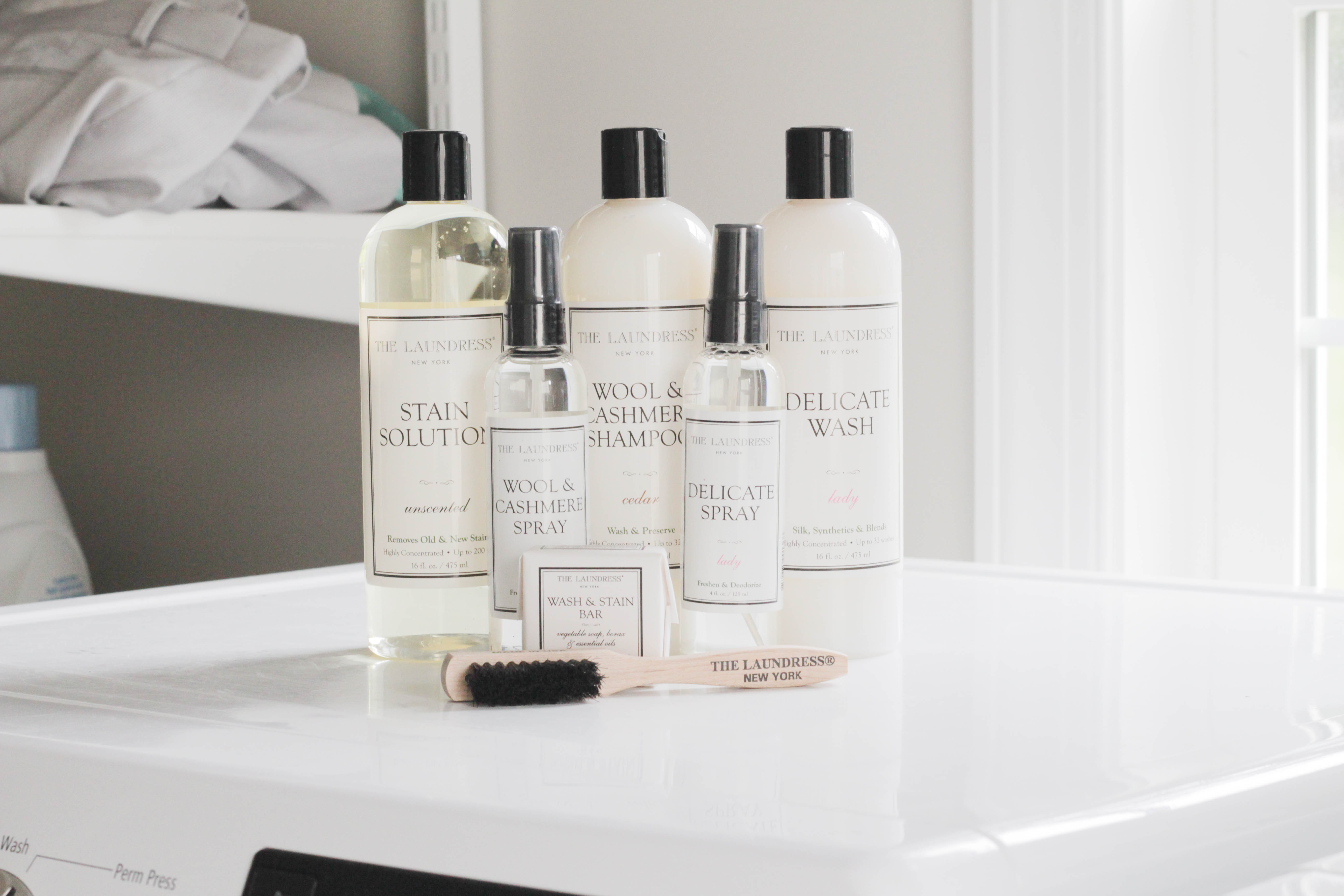 Stain Solution, Wool & Cashmere Shampoo, Wool & Cashmere Spray, Wash & Stain Bar, Delicate Spray, Delicate Wash, Stain brush