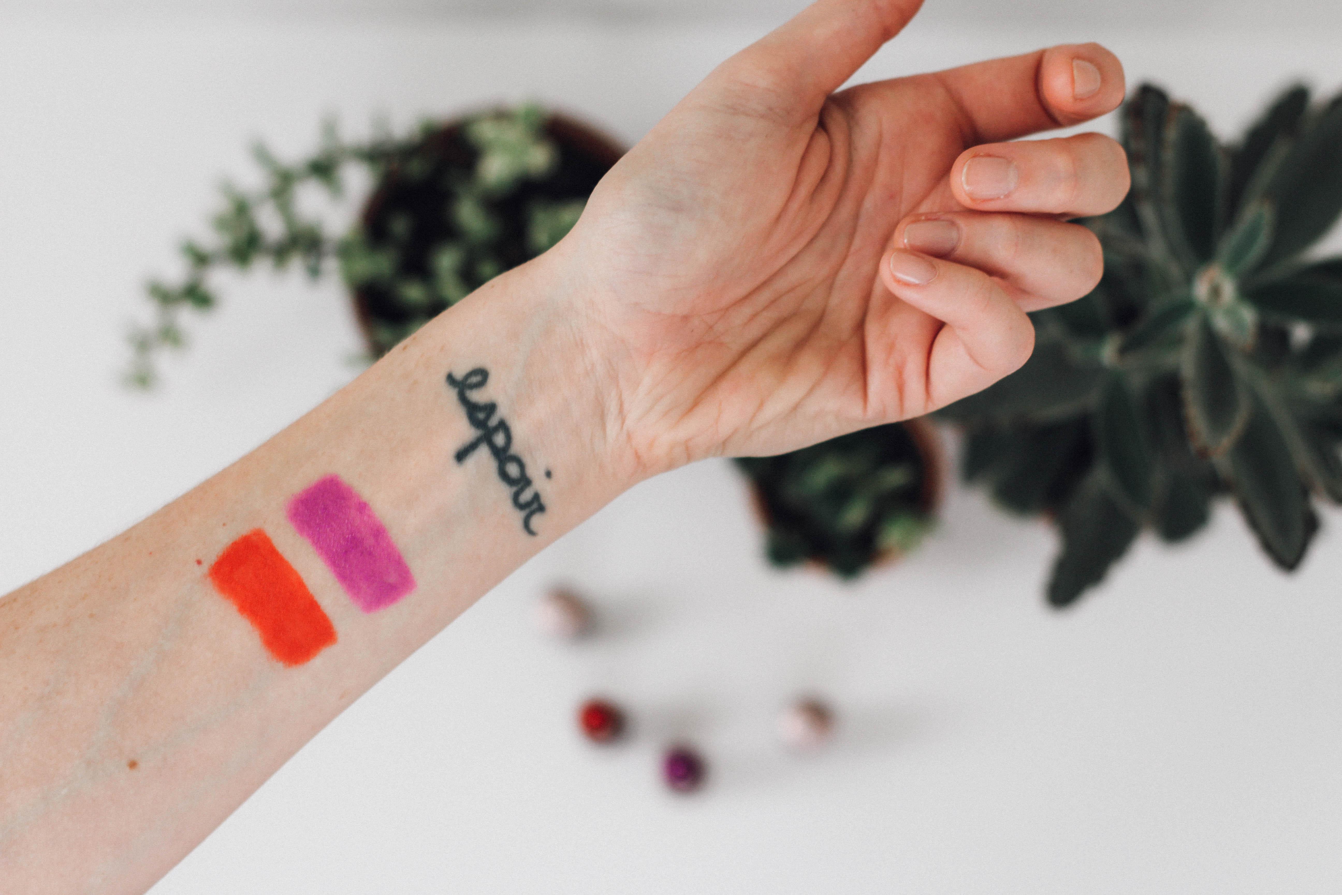 Matte Lipstick swatches