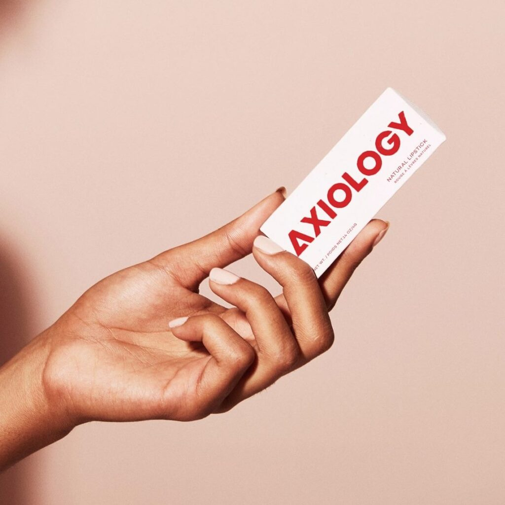 Axiology Beauty, cosmetics, lipstick, lip tints, balmies, multi sticks, makeup, green beauty, sustainable, biodegradable, compostable
