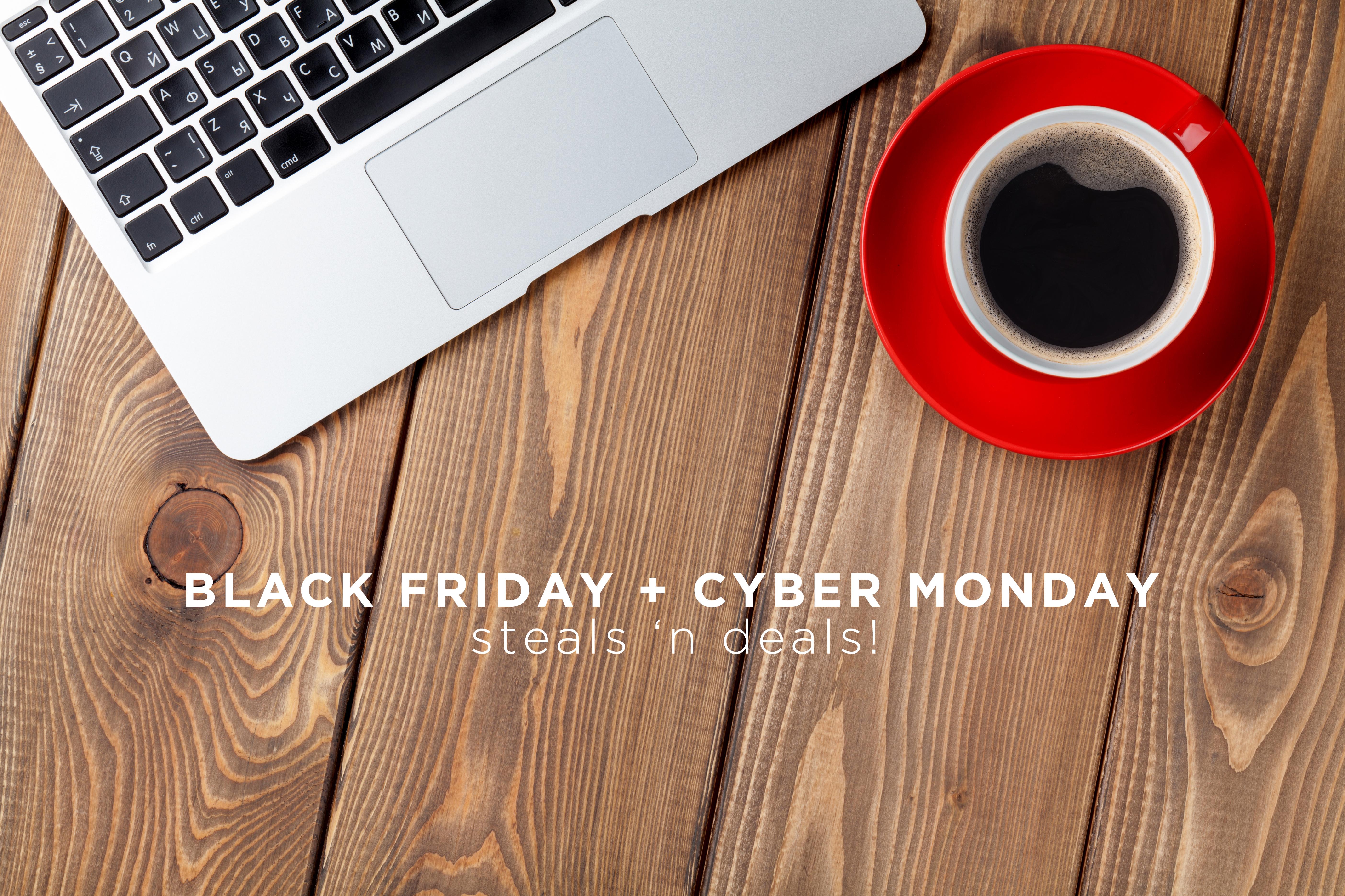 BLACK FRIDAY + CYBER MONDAY STEALS 'N DEALS!
