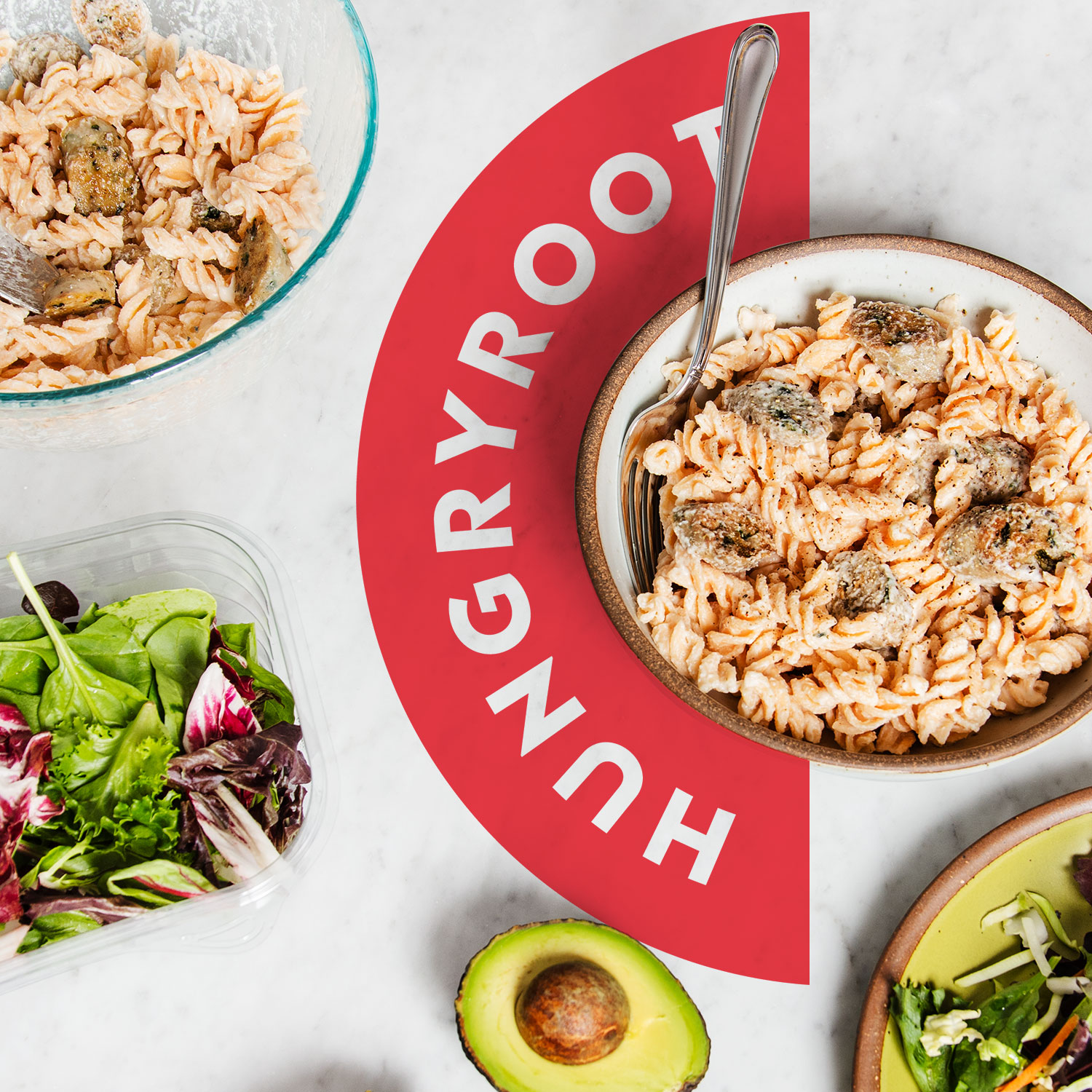 Hungry Root, plant-based, bowls, soups, pastas, food, organic, healthy