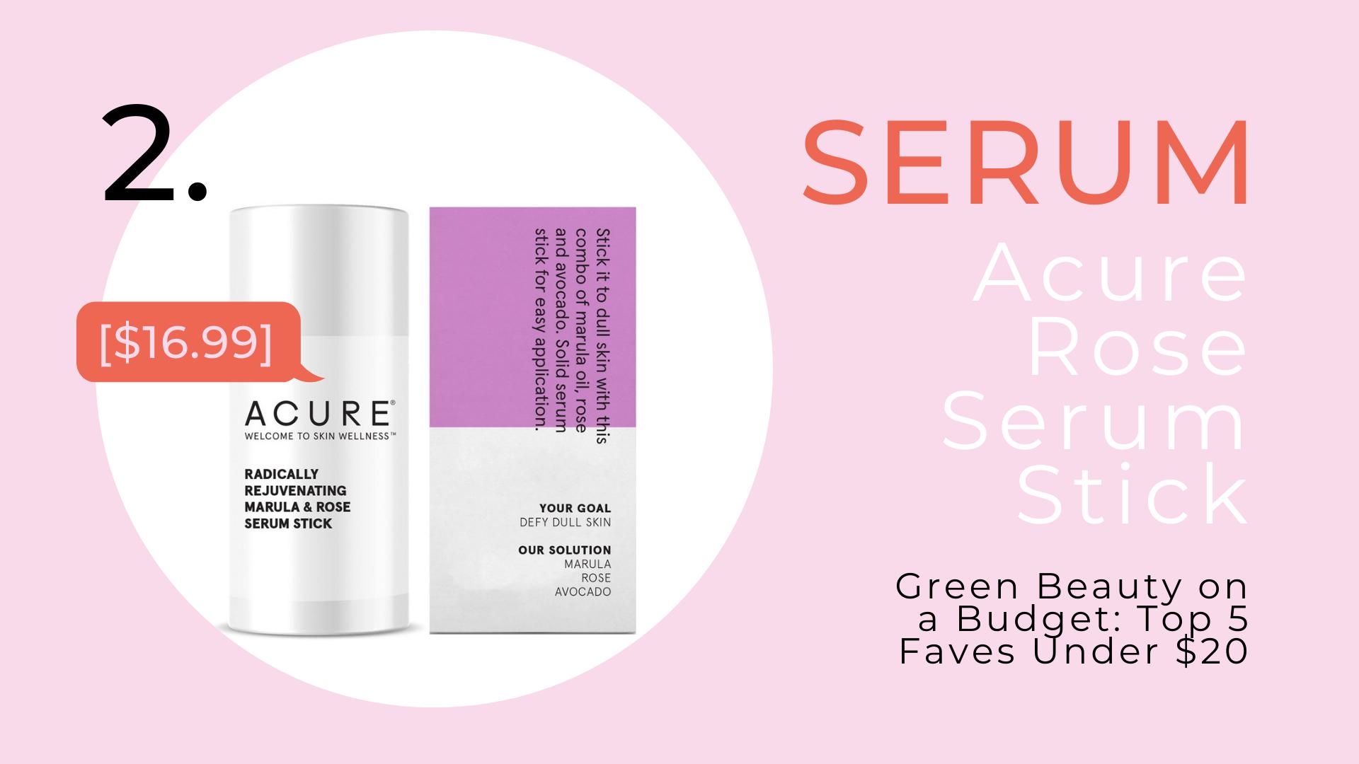 Shop Acure Radically Rejuvenating Marula & Rose Serum Stick