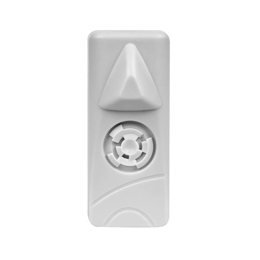 Smaller size security tag solution for apparel, outerwear, and footwear.