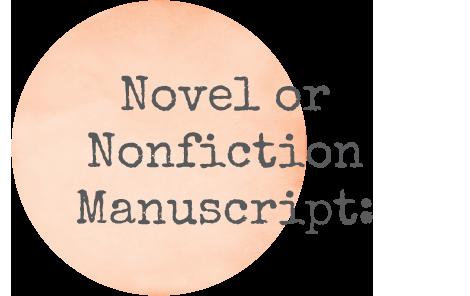 Novel or Nonfiction manuscript editing and critique