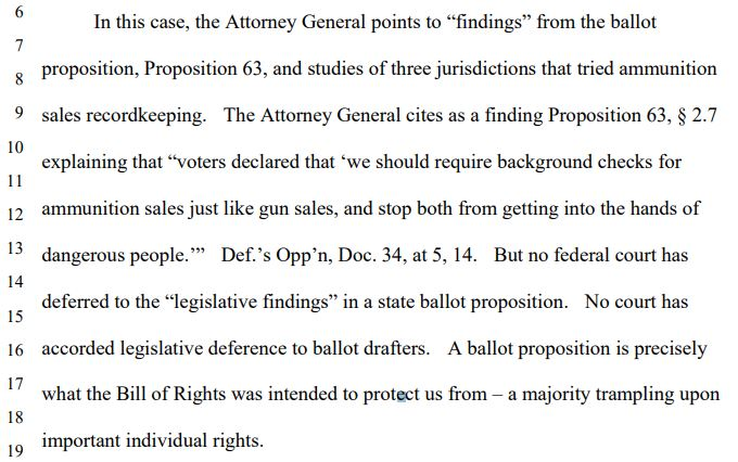 Defense of Second Amendment: Rhode v. Becerra (Docket Number: 3:18-cv-00802-BEN-JLB) | Order on Motion for Preliminary Injunction--Document #60 | Date Filed: 4/23/2020 | California Proposition 63 Shot-Down