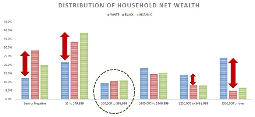 Distribution of Net Wealth by Race