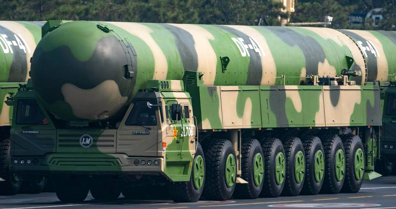 Chinese DF-41 Mobile MIRV Nuclear ICBMs