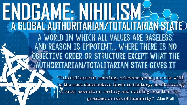 The Endgame: Nihilism and Satan's counterfeit system of global authoritarian/totalitarian government