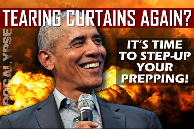 """Obama has """"Torn Back the Curtain""""--Blasphemous Imagery that Is a Prophetic Sign of the Last Days and a Warning to Prepare for Tribulation & Divine Judgment"""