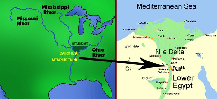 Little Egypt in Illinois vs. Actual Egypt