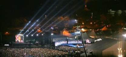 Barack Obama's 2008 election night rally in Grant Park, Chicago—Luciferian Cathedral of Light?