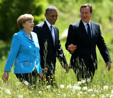 Obama travels back to Berlin to fellowship with German Chancellor Angela Merkel… and visit Satan's Throne?