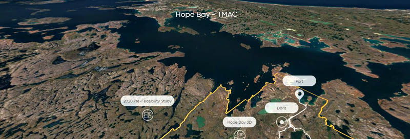 Image shows the Hope Bay port providing Northwest Passage access. PHOTO: TMAC RESOURCES