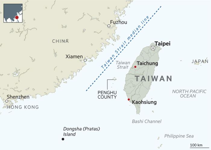 Taiwan Strait Map
